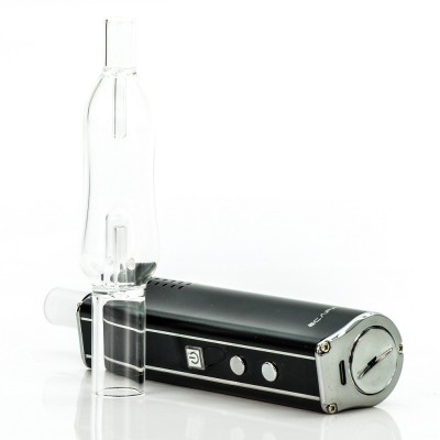 ECapple iV-1 dry herb vaporizer with bubbler