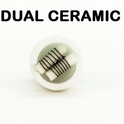 Wax Atomizer Tank Replacement Coils | Dual Ceramic 5-Pack