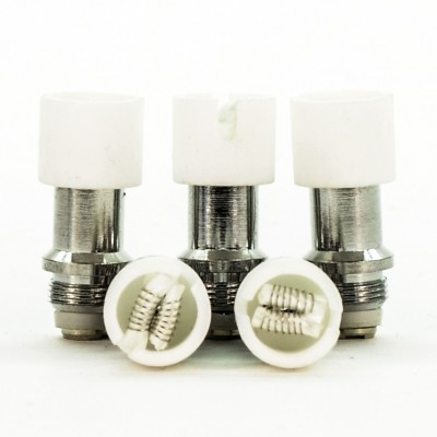 Wax Atomizer Tank Replacement Coils | Dual Cotton 5-Pack