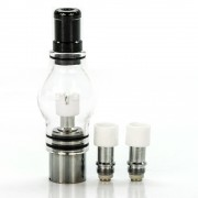 Glass Globe Wax Atomizer Tank | 510 thread ego attachment