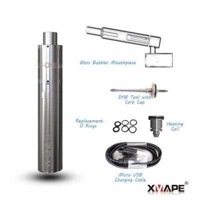XVape V-One 2.0 - Portable eNail Wax Kit | 1500mah XMax Concentrate Water Bubbler Vaporizer