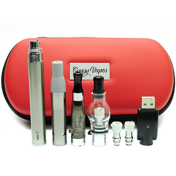 ego 1100mah 3in1 starter vape kit vaporizer pen dry herb wax oil