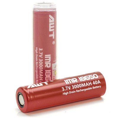 AWT 18650 3000MAH 40A batteries 2-Pack