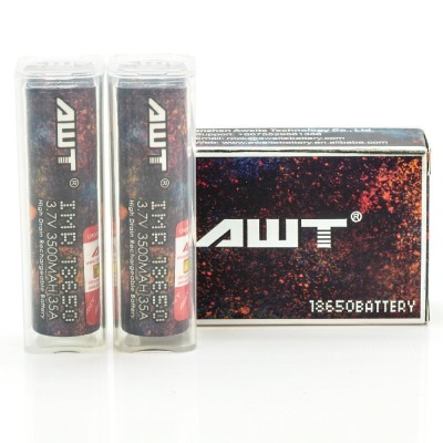 AWT IMR 18650 3500MAH 35A batteries 2-Pack