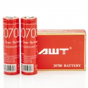 AWT IMR 20700 4200MAH 40A 3.7V ion batteries 2-Pack