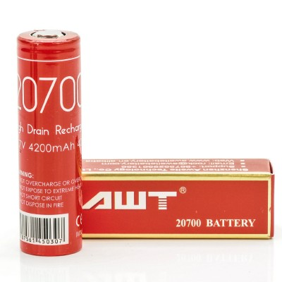 AWT IMR 20700 4200MAH 40A batteries 2-Pack