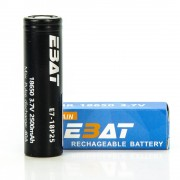 EBAT IMR 18650 2500mah 40A battery | E7-18P25 flat top ion rechargeable batteries