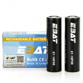 EBAT IMR 18650 3000mah 45A battery | 2-Pack | flat top ion rechargeable batteries