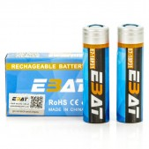 EBAT IMR 18650 3100mah 40A battery | 2-Pack | flat top ion rechargeable batteries