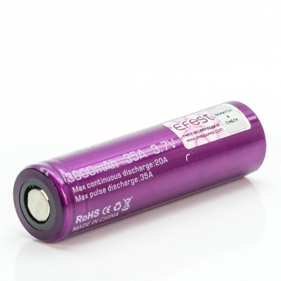 Efest 18650 3000mah 35A flat top high drain rechargeable battery