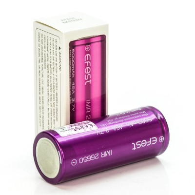Efest IMR 26650 5000mah 45A rechargeable batteries 2-Pack