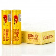 Imren IMR 18650 3000mah 20/40A 3.7V batteries | 2-Pack | high drain li-ion battery