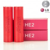 LG HE2 IMR 18650 2500MAH 35A rechargeable batteries | 2-Pack |
