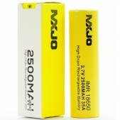 MXJO IMR 18650 2500MAH 35A 3.7V FLAT-TOP BATTERY
