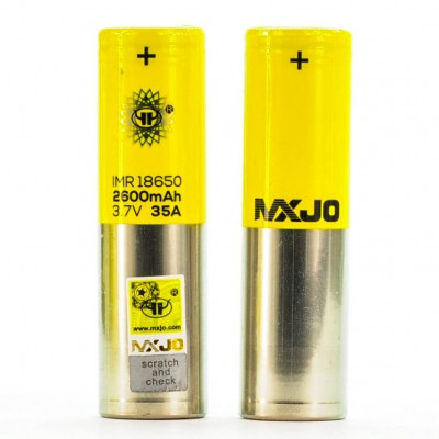 MXJO IMR 18650 2600MAH 35A 3.7V FLAT-TOP BATTERY