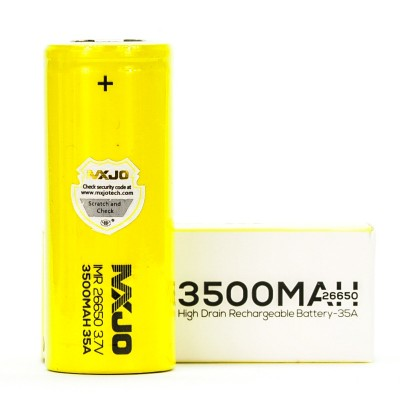 MXJO IMR 26650 3500MAH 35A 3.7V FLAT-TOP BATTERY