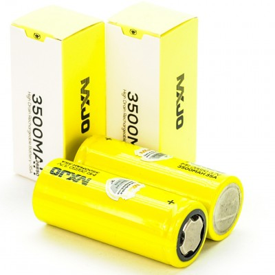 2x MXJO IMR 26650 3500MAH 35A 3.7V flat top rechargeable batteries