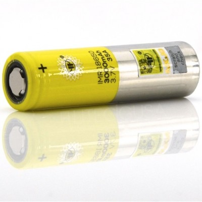 MXJO IMR 18650 3000MAH 35A 3.7V batteries | 2-Pack | flat top lithium high drain li-ion rechargeable battery