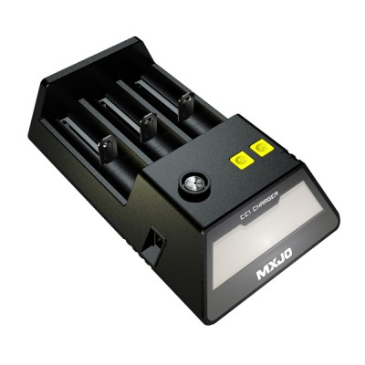 MXJO CC1 INTELLIGENT 3 SLOT LCD CHARGER | 18350 18500 18650 26650 BATTERIES