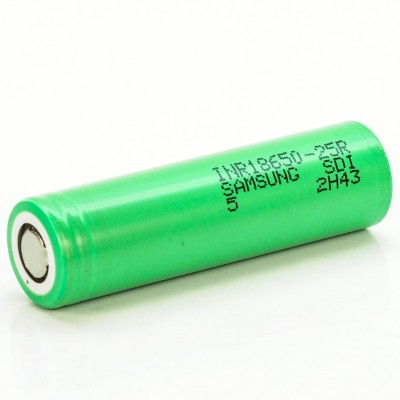 Samsung 25R IMR 18650 2500mAh 35A rechargeable battery | INR18650-25R