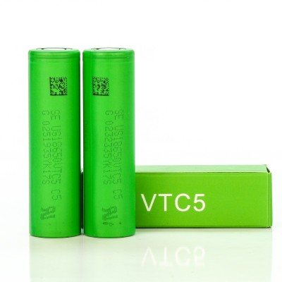 Sony IMR 18650 VTC5 2600mAh 30A 3.7V batteries | 2-Pack | flat top high drain US18650VTC5 rechargeable battery