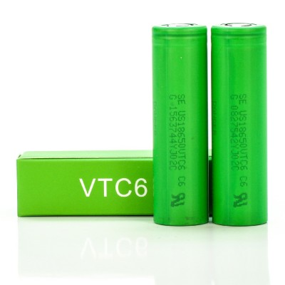 Sony IMR 18650 VTC6  3000mAh 35A 3.7V | 2-Pack | flat top rechargeable battery US18650VTC6