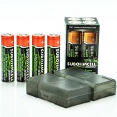 SUBOHMCELL IMR 18650 2800mah 35A Batteries 4-Pack
