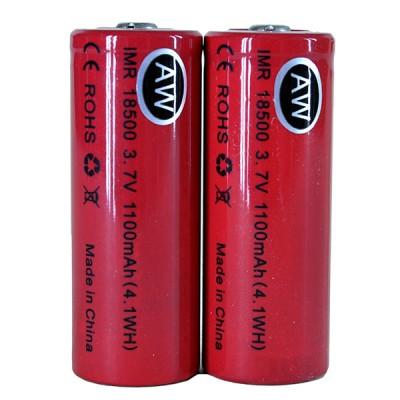 AW IMR 18500 1100mah 3.7V battery