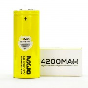 MXJO IMR 26650 4200MAH 22A 3.7V battery | flat top lithium high drain li-ion rechargeable batteries