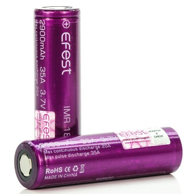 Efest IMR 18650 2900mah 35A rechargeable batteries 2-Pack