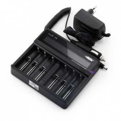 Efest LUC V6 6-bay LCD display universal battery charger