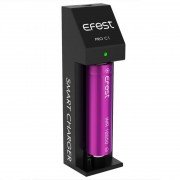 Efest Pro C1 single bay lithium Ion smart battery charger | 18350 18500 18650 20700 21700 26650