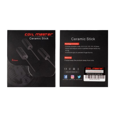 Coil Master Ceramic Stick Set | coiling buil-up DIY RBA / RDA