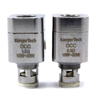 Kangertech SubTank Organic Cotton Coils |  Replacement Coil Heads | 5 pack | 1.2Ω or 0.5Ω OCC