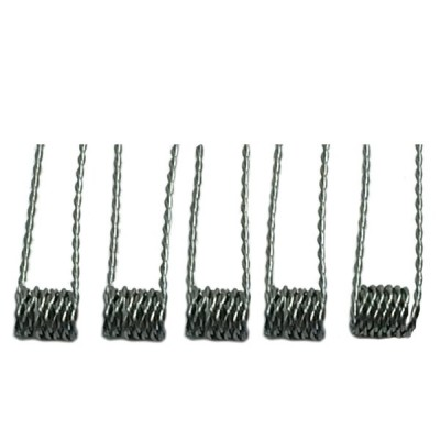 Pre-Made Twisted Kanthal Coil for RDA/RBA DIY | 5-Pack | 24, 26, 28 AWG