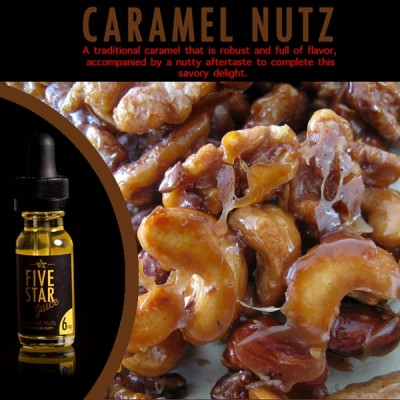 Five Star Juice CARAMEL NUTZ - E-Liquid 15 ml
