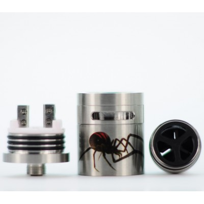 BLACK WIDOW RDA | Turbo Turbine Fan Ceramic Deck Mod Tank Atty RBA